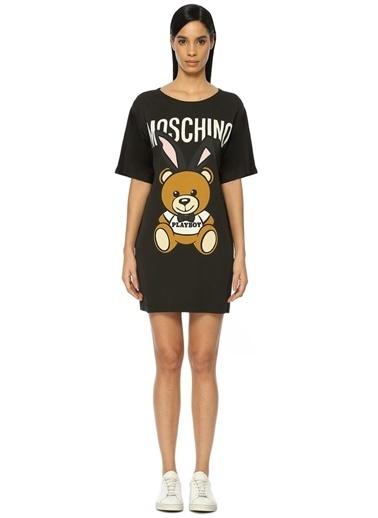 Ayıcık Baskılı Mini Elbise-Moschino